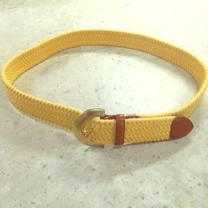 Talbots RETRO yellow woven knotted fabric belt